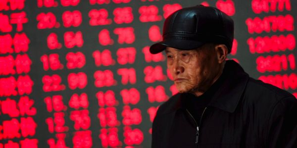China's stocks are plunging again - falling 3% to near 4-year lows as trade jitters return