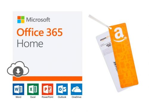 Get a $50 Amazon gift card when you buy one year of Microsoft Office 365 Home as a Prime Day deal