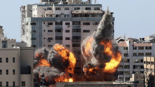 Israeli Airstrike Flattens Building, Home To AP And Other Media In Gaza City