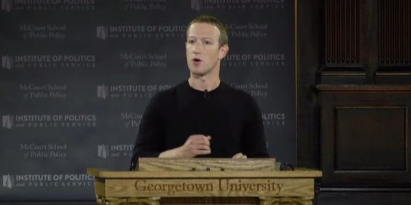 During a live speech at Georgetown University, Facebook CEO Mark Zuckerberg identified the three biggest threats to free speech online