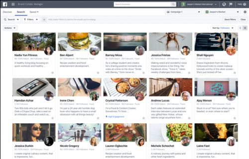 Facebook launches Brand Collabs search engine for sponsoring creators