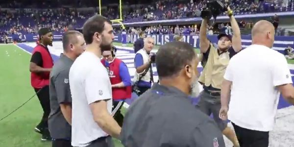 Andrew Luck booed by Colts fans as he walks off field after news of his shocking retirement becomes public