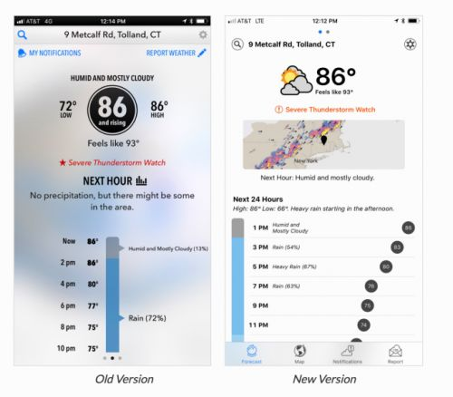 Dark Sky's top ranking weather app gets a big makeover